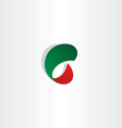 c letter gradient red and green icon logo vector image