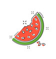 cartoon watermelon icon in comic style juicy ripe vector image vector image