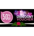 Christmas Sale Discount Voucher Banner Background vector image vector image