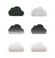 cloud app icons set for technology company vector image