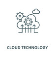 cloud technology line icon cloud vector image vector image