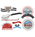 Collection gems label on a white background vector image