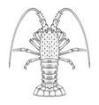 crab prawns lobster crawfish coloring page vector image