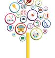 Creative school design vector image vector image
