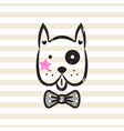 cute gentleman dog tshirt design vector image