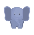 cute little elephant animal character vector image