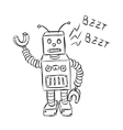 Cute robot doodle vector | Price: 1 Credit (USD $1)