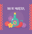day dead mexican celebration tequila vector image vector image