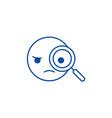 detective emoji line icon concept detective emoji vector image