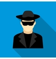 Detective icon flat style vector image vector image