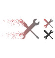 dissipated pixel halftone wrench and screwdriver vector image vector image