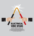 Electrical Wire Spark vector image vector image