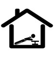 exercise from at home pictograph depicting man vector image