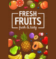 farm harvest organic fruits and berries vector image vector image