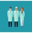 flat of doctors medical vector image