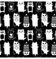 funny cats seamless pattern for your design