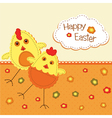 Funny Easter background vector image