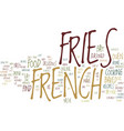 give me french fries with that shake text vector image vector image