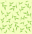 green leaves seamless pattern for tea package vector image vector image