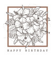 greeting card with happy birthday vector image vector image