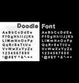 hand drawn doodle fontset sketch alphabet vector image vector image
