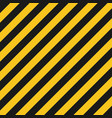 hazard stripes texture industrial striped road vector image vector image