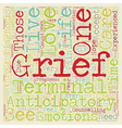 How to Cope with Anticipatory Grief text vector image vector image