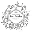 invitation with orchid flowers for wedding vector image vector image