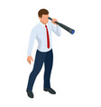 isometric businessman isolated on write creating vector image vector image