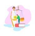 justice statue with scales sword vector image vector image