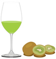 Kiwi juice vector image vector image