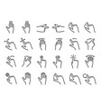 large set black and white gesture icons vector image vector image