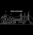 las palmas silhouette skyline spain - las palmas vector image vector image