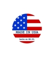 made in USA stamp with flag vector image