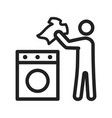 man doing laundry vector image