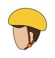 man wearing helmet icon image vector image