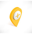 map pointer pin isometric with plus icon vector image vector image
