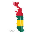 map togo with national flag vector image vector image