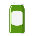 metal aluminum green can isolated on white vector image vector image