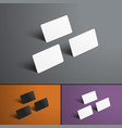 mockup of three gift or bank cards is isolated on vector image vector image
