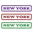 new york watermark stamp vector image vector image