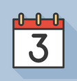 number and calendar icon outline icon with long vector image vector image
