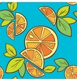 orange citrus bright seamless pattern background vector image