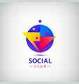 people group logo social net club vector image vector image