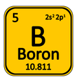 Periodic table element boron icon vector image vector image