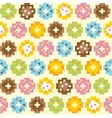 Pixel art style donut seamless background vector image vector image