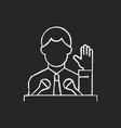 political elite chalk white icon on black vector image