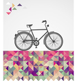 Retro hipsters bicycle geometric elements vector image vector image