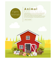 Rural landscape and farm animal background 2 vector image
