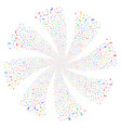 scissors fireworks swirl flower vector image vector image
